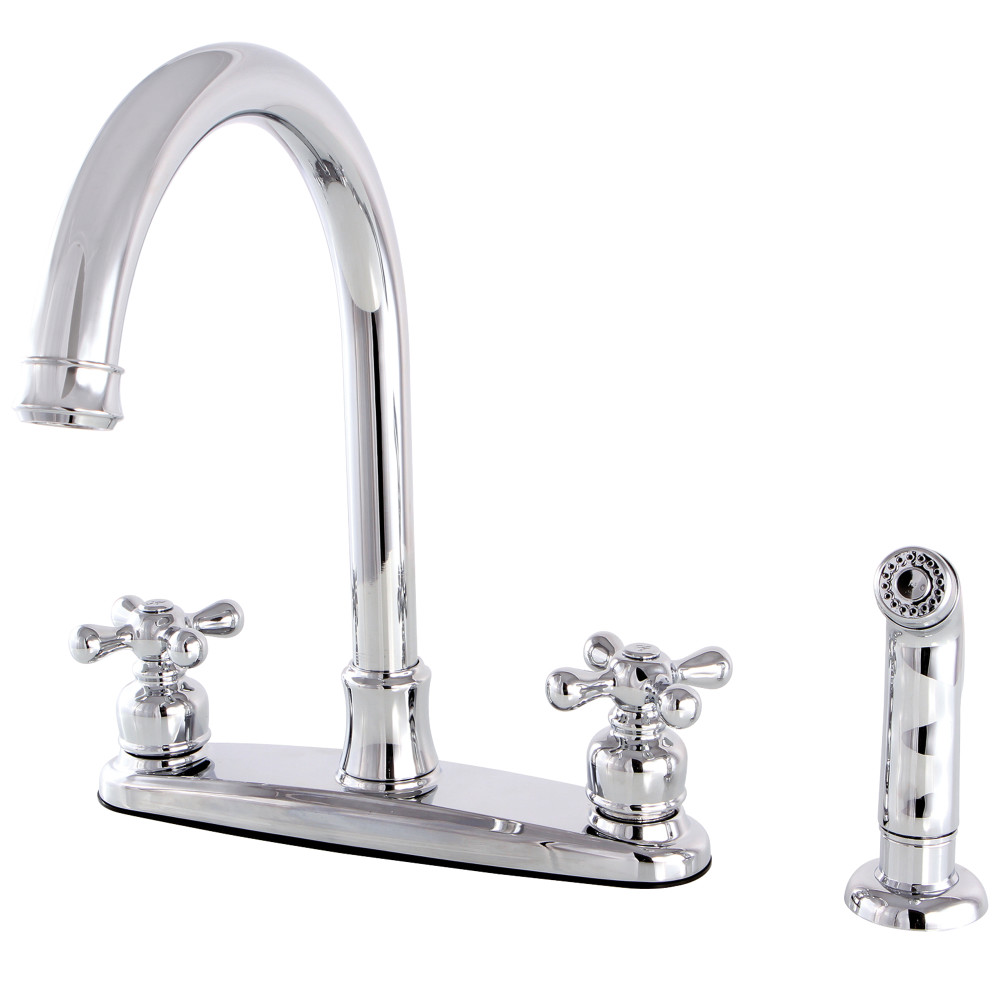 Kingston Brass Fb7791axsp Centerset Kitchen Faucet Polished Chrome Kingston Brass
