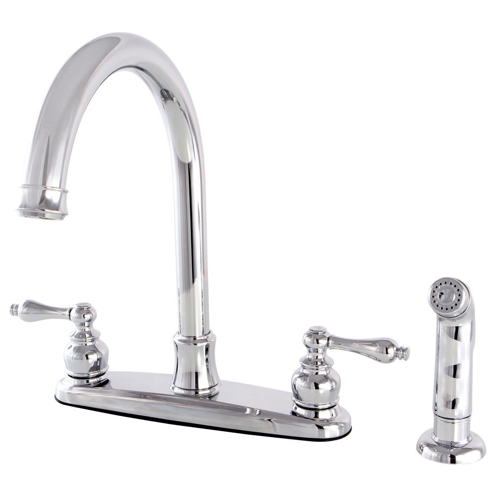 Kingston brass fb7791alsp victorian 8 inch centerset - Kingston brass victorian bathroom faucet ...