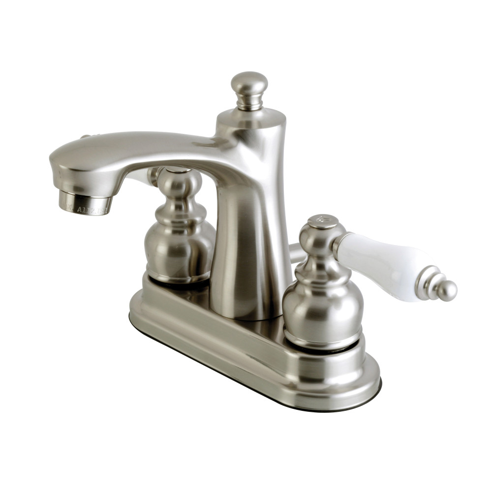 Kingston Brass Fb7628pl Victorian 4 Inch Centerset Lavatory Faucet Satin Nickel Kingston Brass