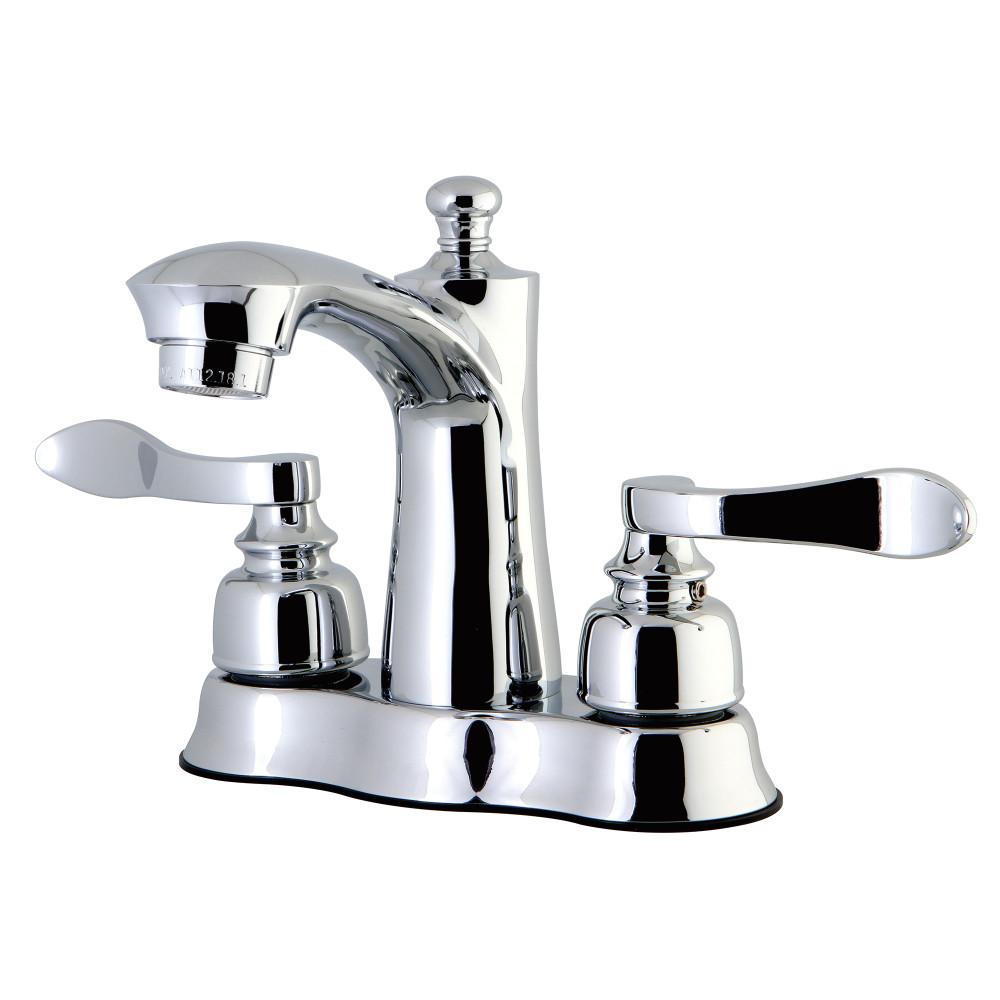 Kingston Brass FB7611NFL 4-Inch Centerset Lavatory Faucet, Polished ...