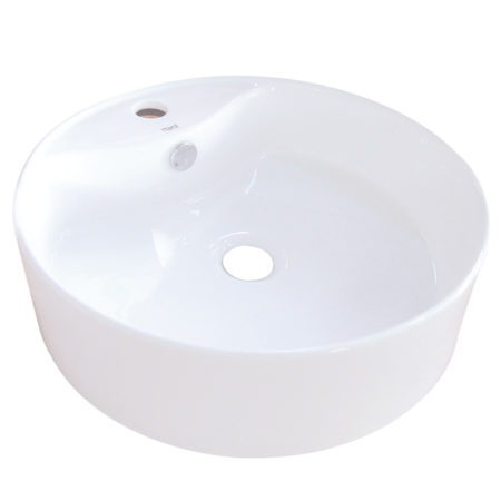 Fauceture EV4104 Uno Vessel Sink, White