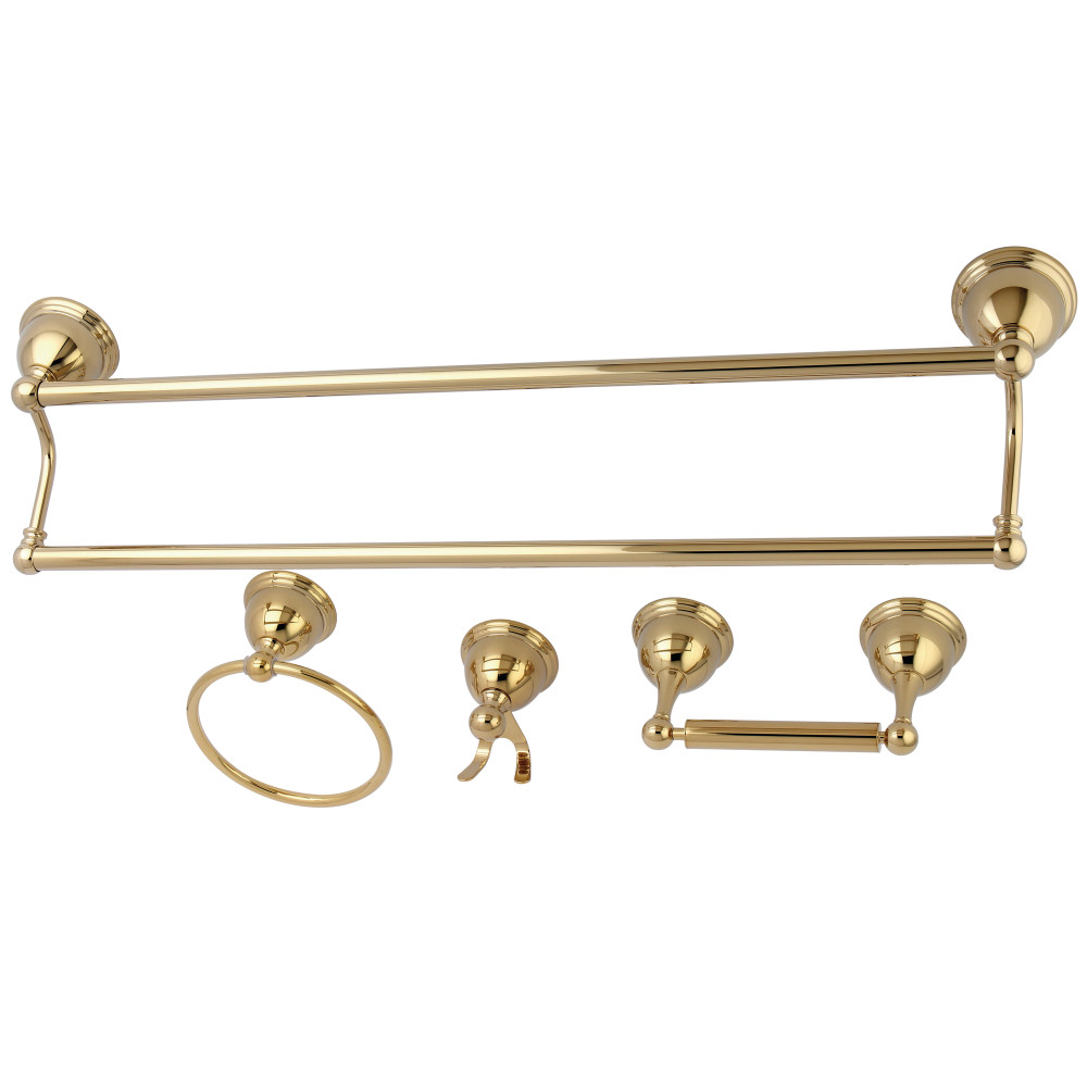 Kingston Brass Bak3963478pb Restoration 4 Piece Bathroom Hardware Polished Brass Kingston Brass