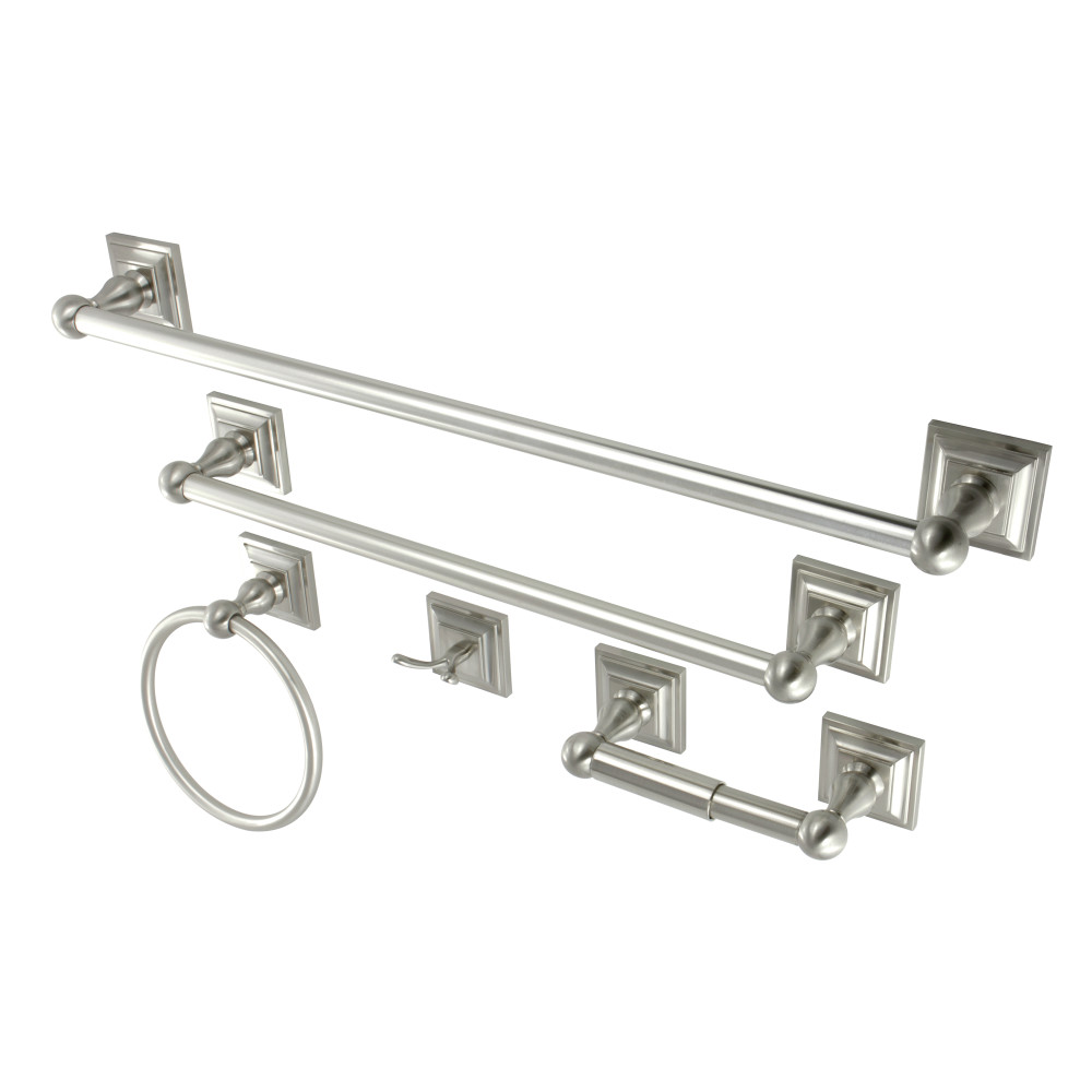 Kingston Brass Bahk3212478sn Bathroom Accessory Combo Brushed Nickel Kingston Brass