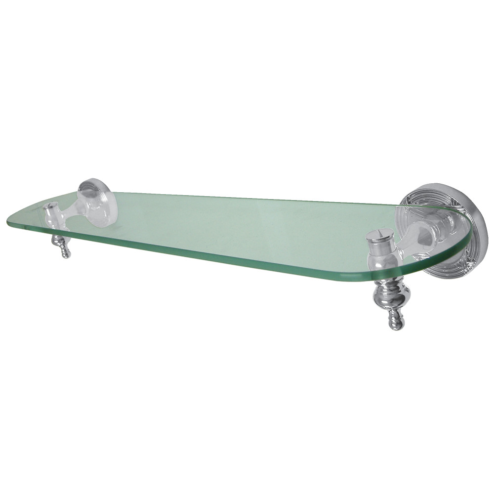 Kingston Brass BA9919C Templeton Cosmetic Glass Shelf, Chrome ...