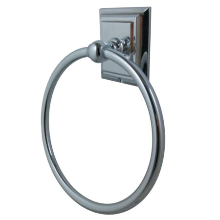 Kingston Brass BA6014C Millennium Towel Ring, Polished Chrome