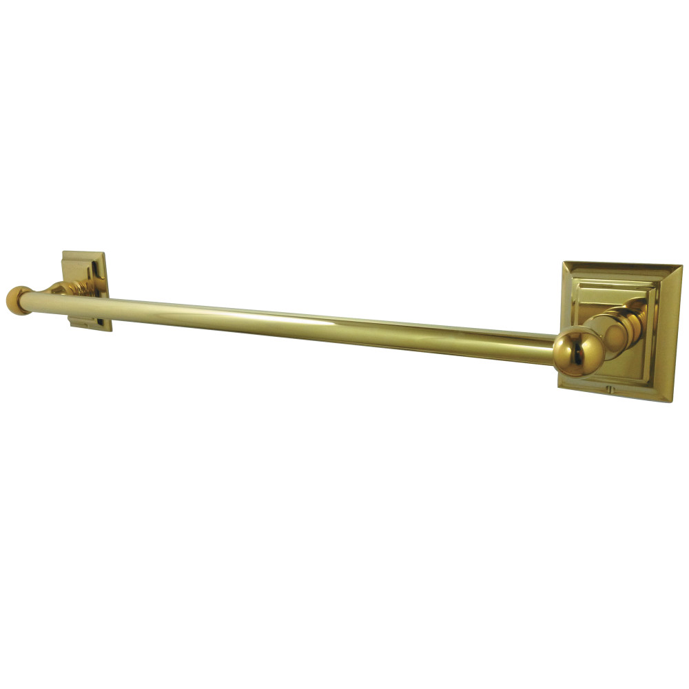 "Polished Brass Bathroom Towel Bars: Kingston Brass BA6011PB Millennium 24"" Towel Bar, Polished"