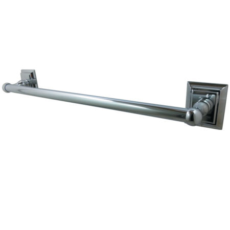 "Kingston Brass BA6011C Millennium 24"" Towel Bar, Polished Chrome"