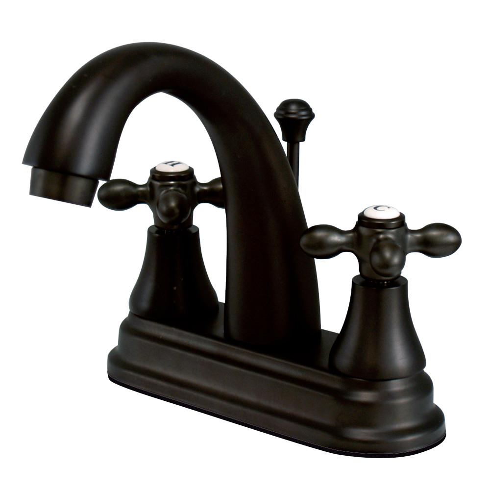 Kingston brass ks7615ax english vintage 4 centerset - Antique brass bathroom faucet centerset ...
