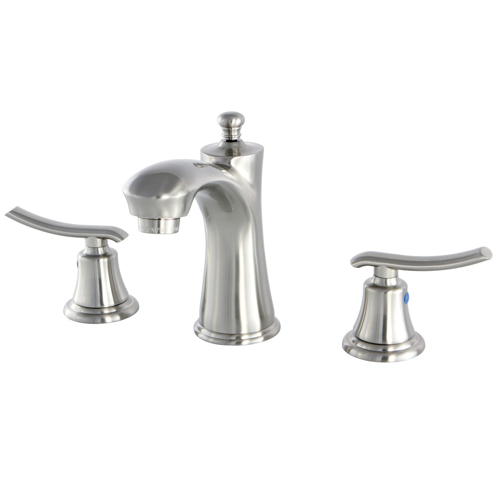Kingston brass kb7968jl 8 inch widespread lavatory faucet - 8 inch brushed nickel bathroom faucet ...