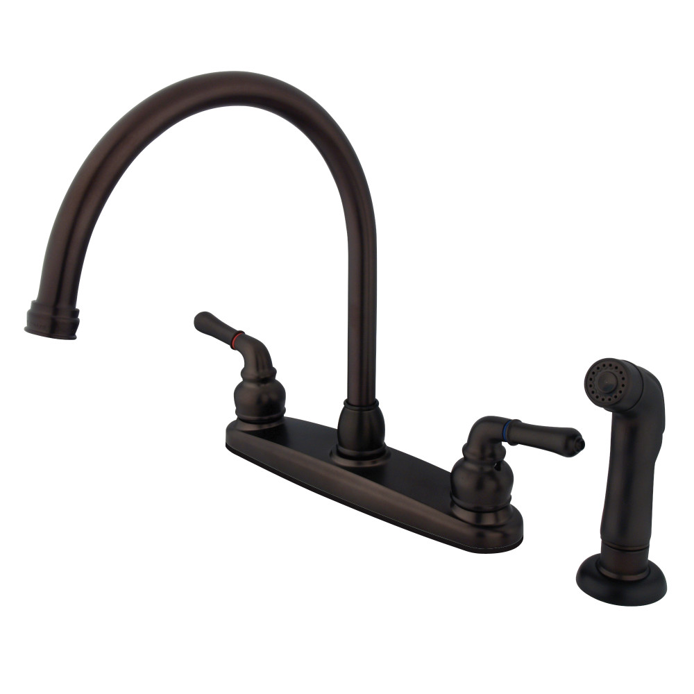 Kingston Brass FB795SP Magellan 8-inch Centerset Kitchen Faucet, Oil Rubbed Bronze