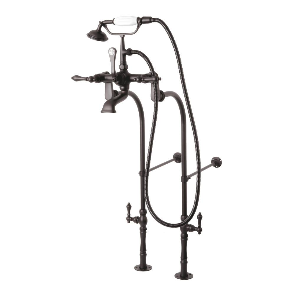 Kingston Brass CCK103T5 Vintage Tub Filler Combo with Lever Handle ...