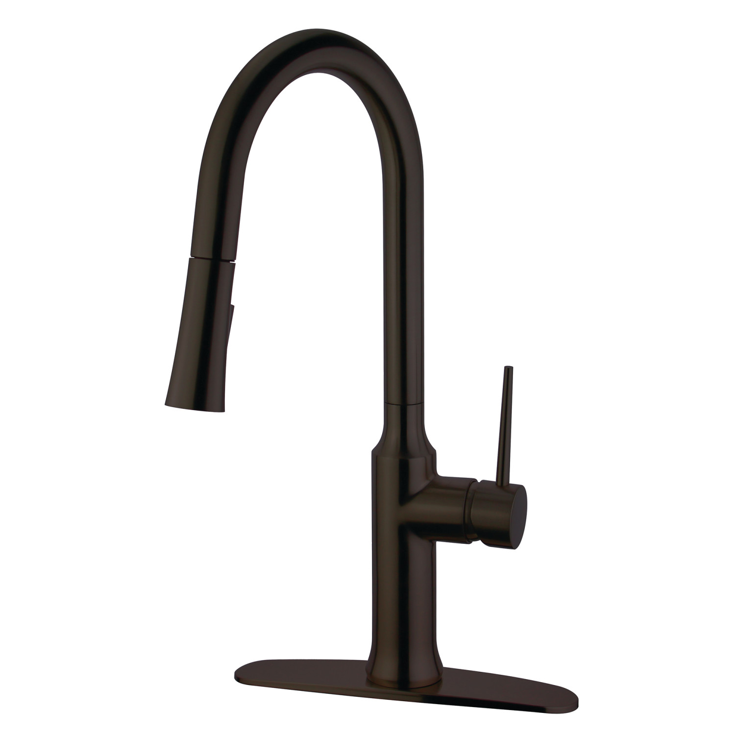 Kingston Brass LS2725NYL Single-Handle Pull-Down Kitchen Faucet, Oil ...