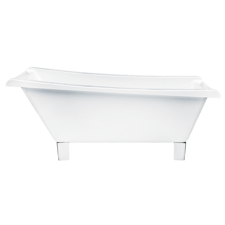 Kingston Brass Aqua Eden 67-Inch Acrylic Square Clawfoot Tub with ...