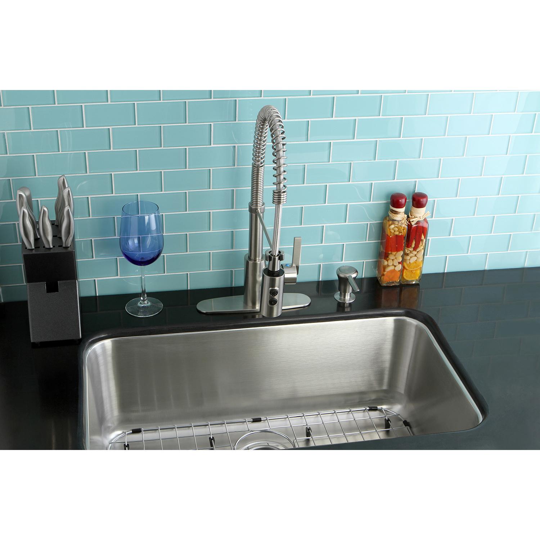 Kingston Brass Loft KZGKUS3018F Undermount Single Bowl Kitchen Sink ...
