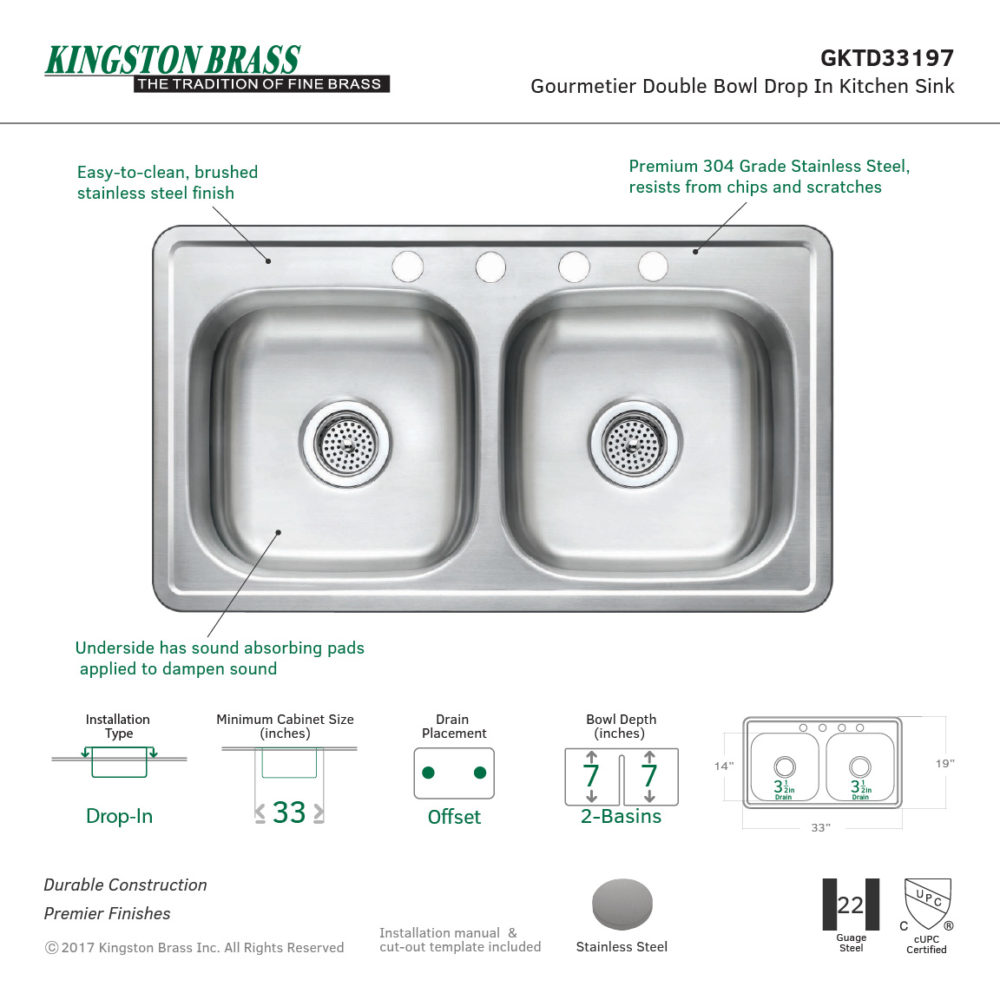 Stainless steel sink kingston brass featured kitchen sinks kitchen sinks stainless steel sink workwithnaturefo