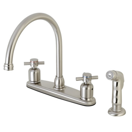 Kingston Brass FB798DXSP Centerset Kitchen Faucet, Brushed Nickel