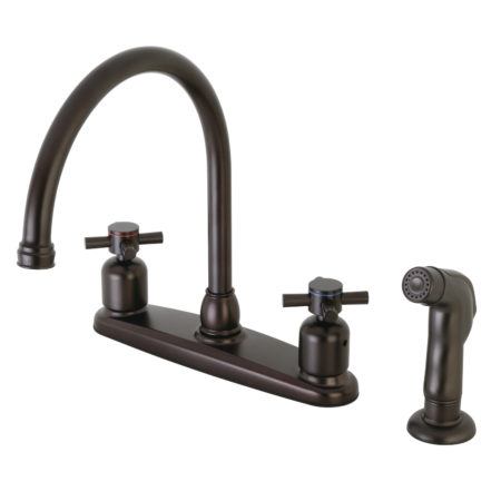Kingston Brass FB795DXSP Centerset Kitchen Faucet, Oil Rubbed Bronze
