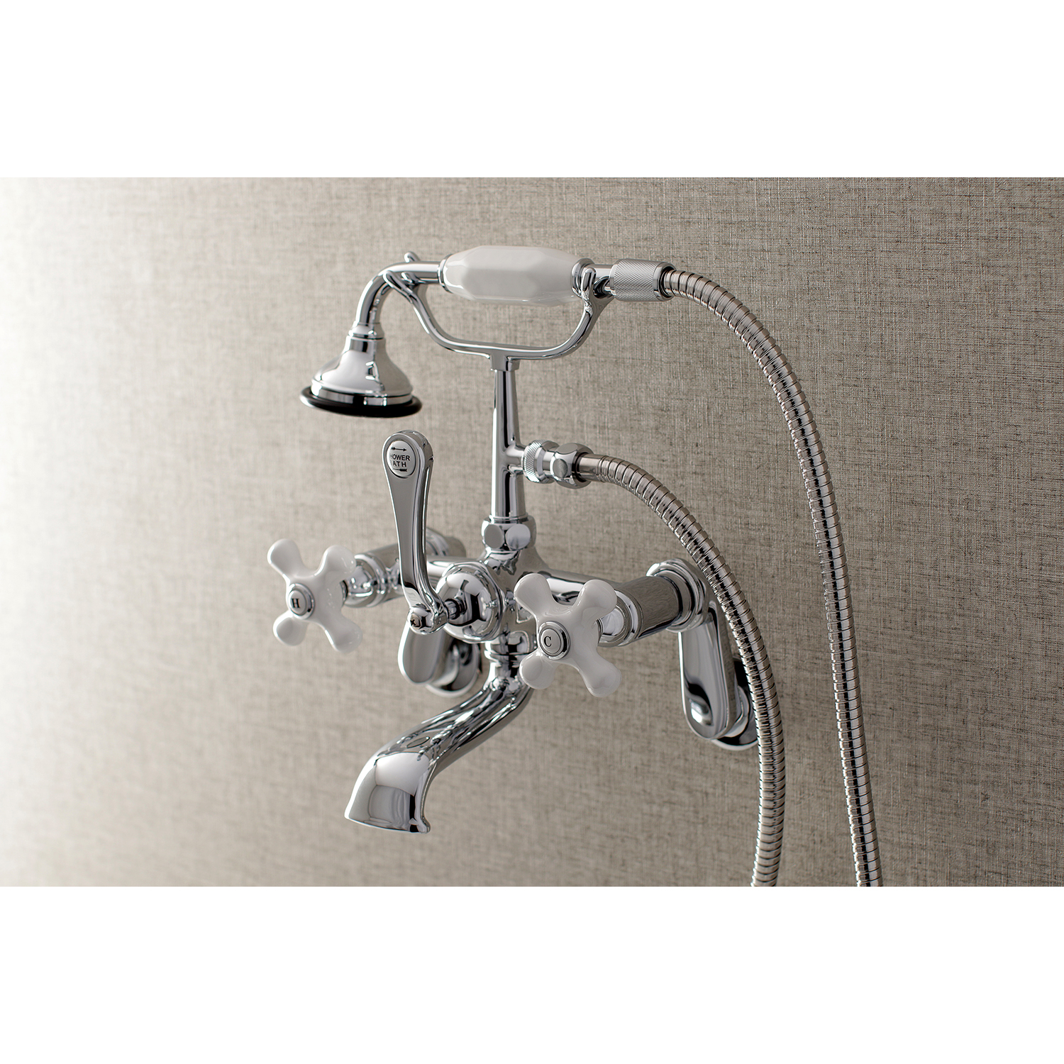 Aqua Vintage AE60T1 Wall Mount Clawfoot Tub Faucet with Hand Shower ...