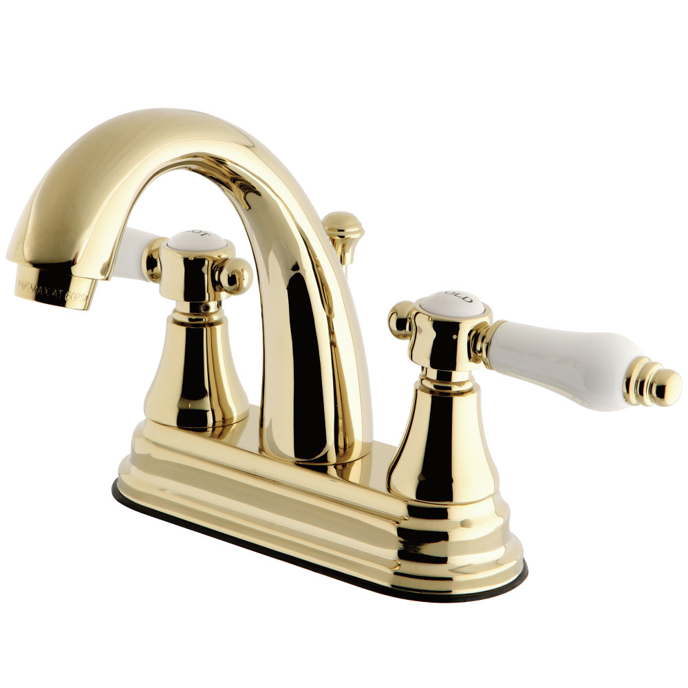 Kingston Brass KS7612BPL 4-Inch Centerset Lavatory Faucet, Polished ...