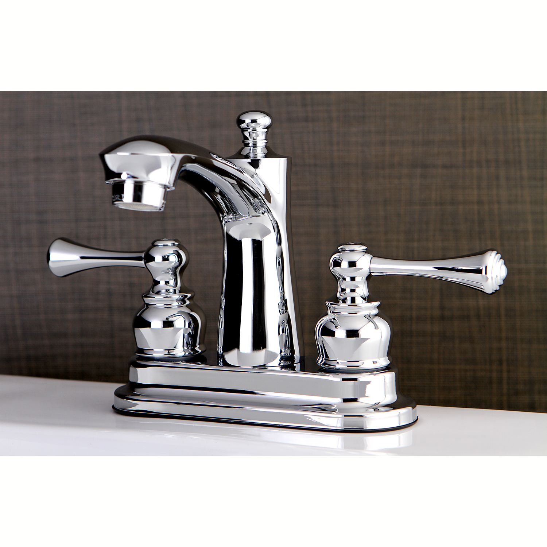 Kingston Brass FB7621BL 4-Inch Centerset Lavatory Faucet, Polished ...