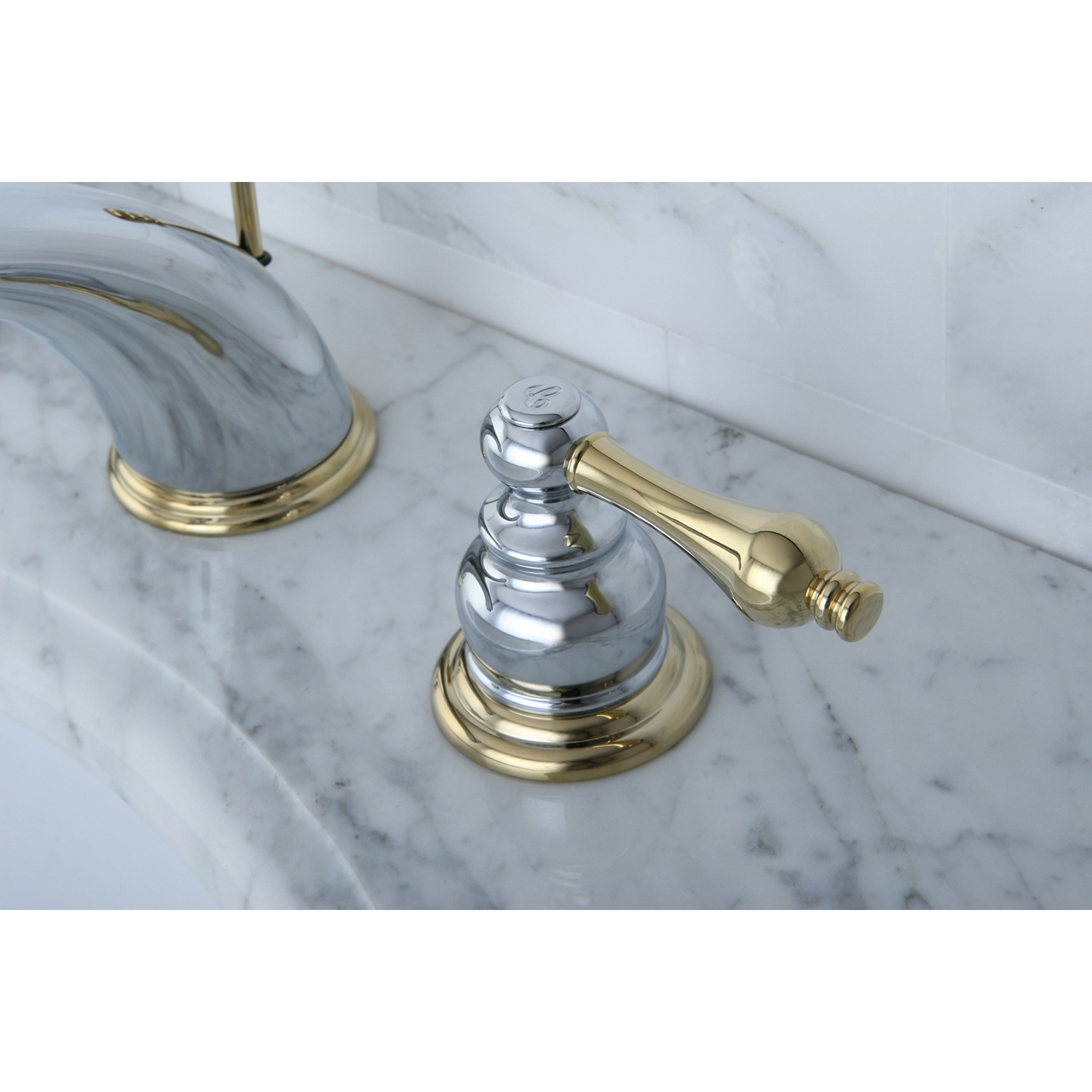 Victorian Polished Brass Widespread Bathroom Faucet: Kingston Brass KB974AL Victorian Widespread Lavatory Faucet With Retail Pop-Up, Polished Chrome