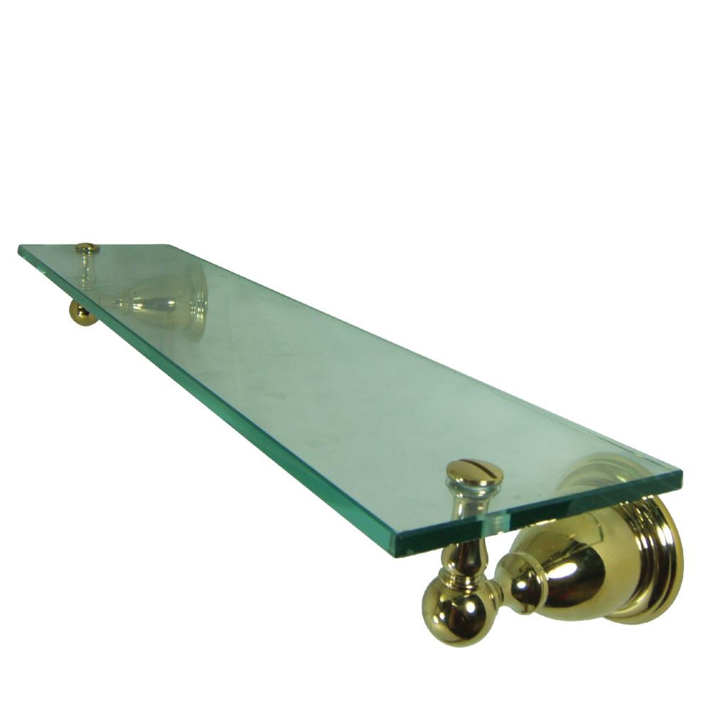 Kingston Brass BA1759PB Heritage Cosmetic Glass Shelf, Polished ...