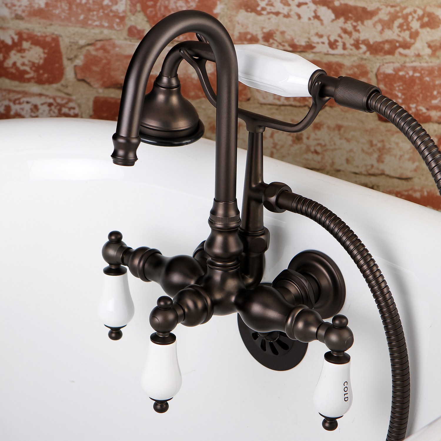 Aqua Vintage Ae9t5 Wall Mount Clawfoot Tub Faucet Oil